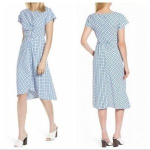 NWT Lewit Size 8 Blue & White Checkered Dress